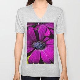 Purple Osteospermum Flower Unisex V-Neck