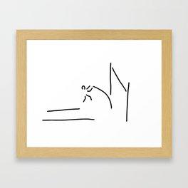 pole vault athletics Framed Art Print