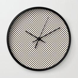 Desert Palm Polka Dots Wall Clock
