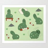 Fat Creeper Art Print