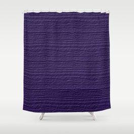 Gentian Violet Wood Grain Color Accent Shower Curtain