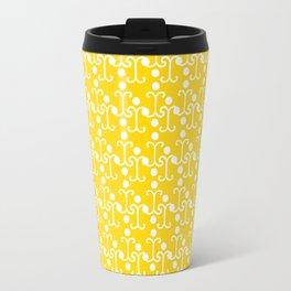 Lattice Pattern (Yellow) Travel Mug