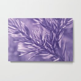 Ultra Violet Spruce Tree Pattern| Trendy color of year 2018 Metal Print