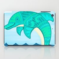 dolphin iPad Cases featuring Dolphin by Claire Lordon