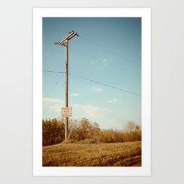 Roads and Lines Lead Can Lead Us to Somewhere New. Art Print