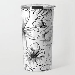 Floral Wallpaper: 1 Travel Mug
