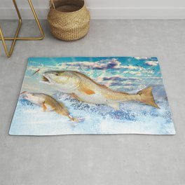 Red Fish Rug
