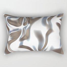 Silver Silk Rectangular Pillow