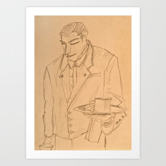 The Waiter Art Print