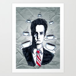 I only have time for coffee. Art Print