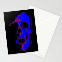 Skull - Blue Stationery Cards