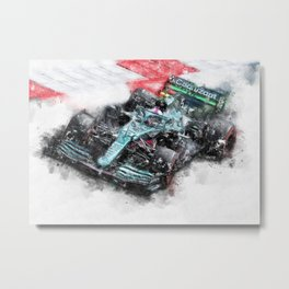 Sebastian Vettel 2021 Metal Print