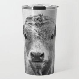 Cow 2 - Black & White Travel Mug