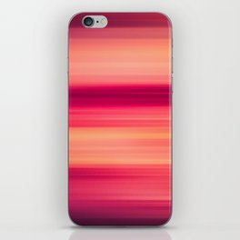 Abstract background blur motion red sunset drops iPhone Skin