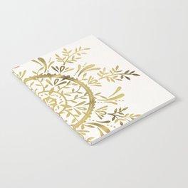 Leaf Mandala – Gold Palette Notebook