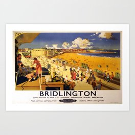 Railwayposter Bridlington Art Print