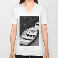 boats V-neck T-shirts featuring Boats by Vishal Wadhwani