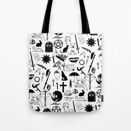Buffy Symbology, Black Tote Bag