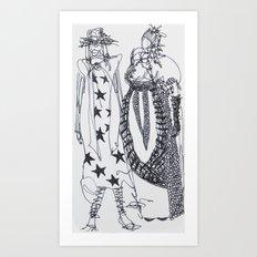 Fashion Doodle #2 Art Print