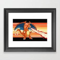 Fire Pocket Monster #006 Framed Art Print