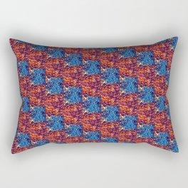 Garnet & Blue Pattern Rectangular Pillow