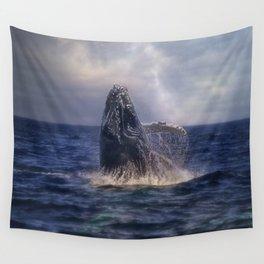 Humpback Rising Wall Tapestry