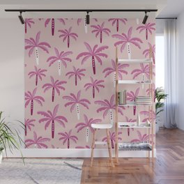 Sweet candy summer palm trees pattern Wall Mural