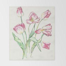 Triumph Tulips Throw Blanket