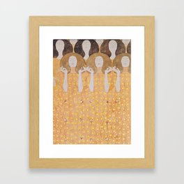 Gustav Klimt - Choir of Angels (Chor Der Paradiesengel) Framed Art Print