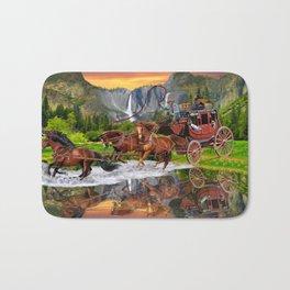 Wells Fargo Stagecoach Bath Mat