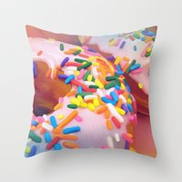 sprinkles Throw Pillows featuring Sprinkles by ShannonPosedenti