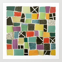 Square On Mosaic Art Print