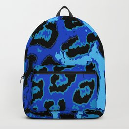 Blue Leopard Spots Backpack