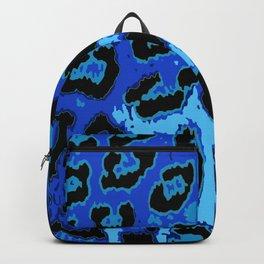 Blue Leopard Spots Backpack