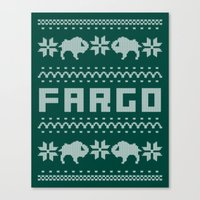 fargo Canvas Prints featuring Fargo Sweater by Mandrie