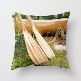 Canoe Paddles Boundary Waters Throw Pillow