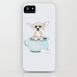 Chihuahua on toilet iPhone Case