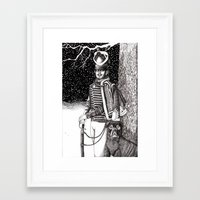 soldier Framed Art Prints featuring Soldier by Thom Deer