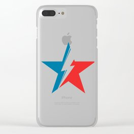 Bowie Star black Clear iPhone Case
