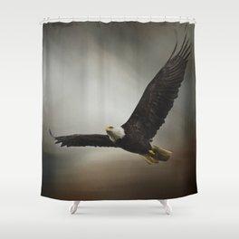 Determination - Eagle Art Shower Curtain