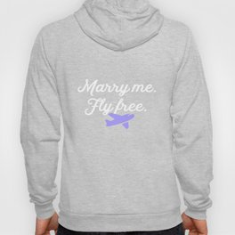 Marry Me Fly Free Airplane Flight Attendant Plane Hoody