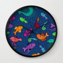 extraordinary sea creatures Wall Clock