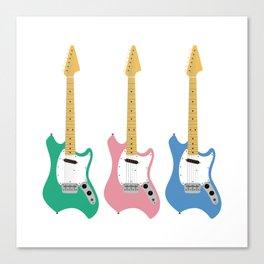 Strumming the guitar! Canvas Print