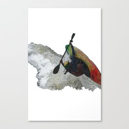 Kayak Decent Canvas Print