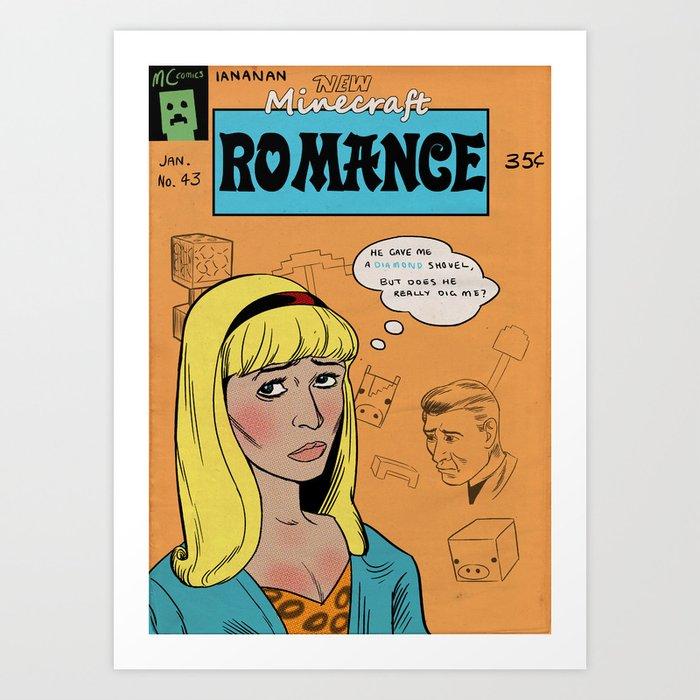 Minecraft Romance Issue #43 Art Print
