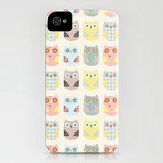 owls pattern iPhone (4, 4s) Slim Case
