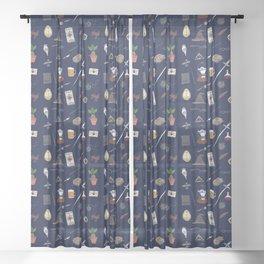 Harry Pattern Night Sheer Curtain