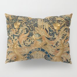 Vintage Golden Deer and Royal Crest Design (1501) Pillow Sham