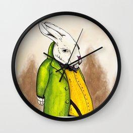 """Rabbiteers """"Professor Lucky"""" Piece 1 Wall Clock"""