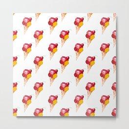 seamless pattern ice cream Metal Print